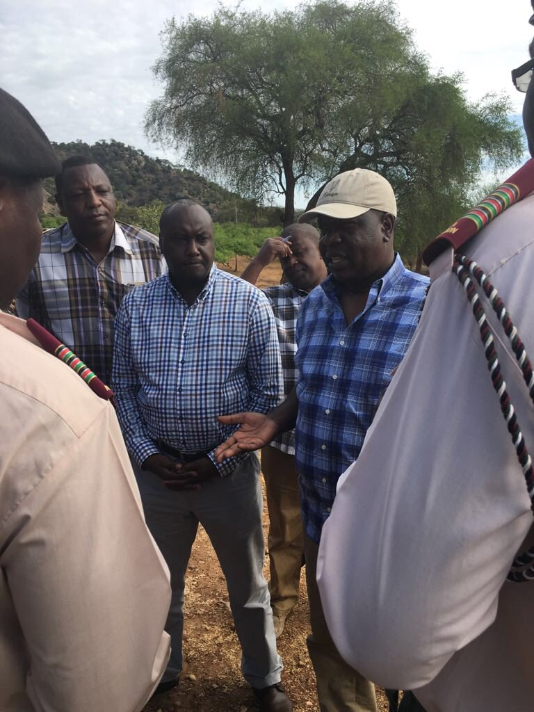 Matiangi tours troubled kerio valley,announces rafts of measures to fight insecurity