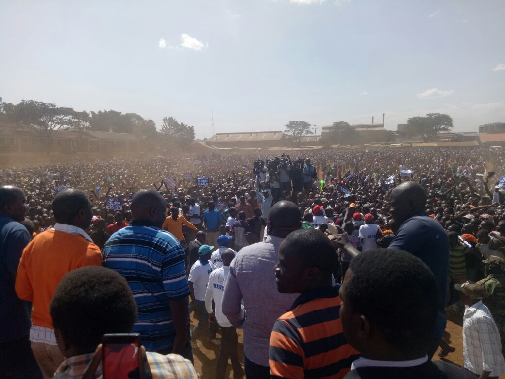 It is a show of mighty as NASA holds its first rally at babadogo after  Odinga's swearing in