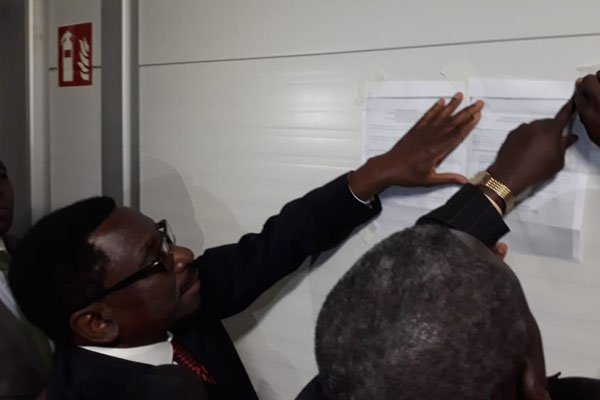 Miguna Miguna lawyers sticks court orders at immigration officials offices at JKIA,demands  his release