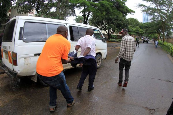 Drama as former NCBDA chair Tim Muriuki is ejected from a city hotel by goons