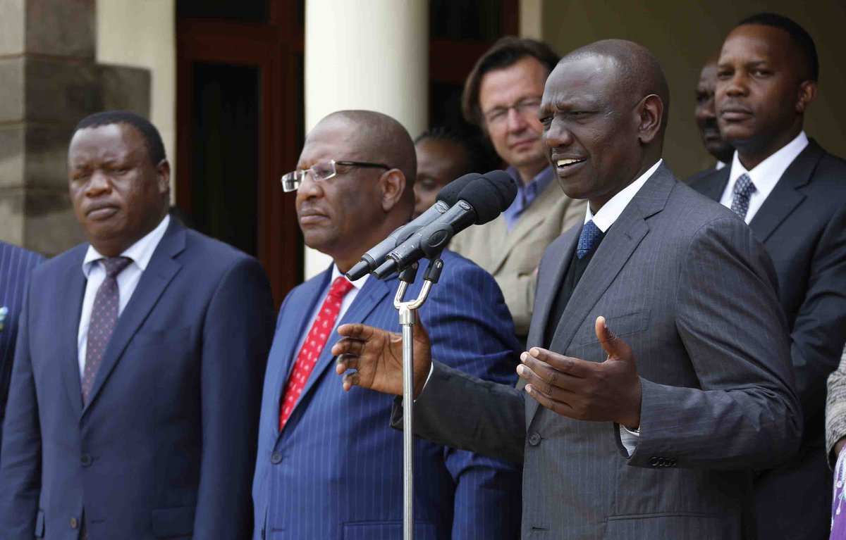 Forest taskforce hands over its recommendation report to DP Ruto