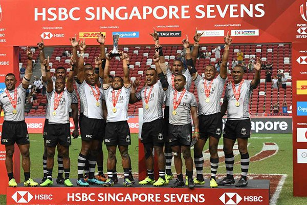 Fiji storm to Sevens victory in Singapore