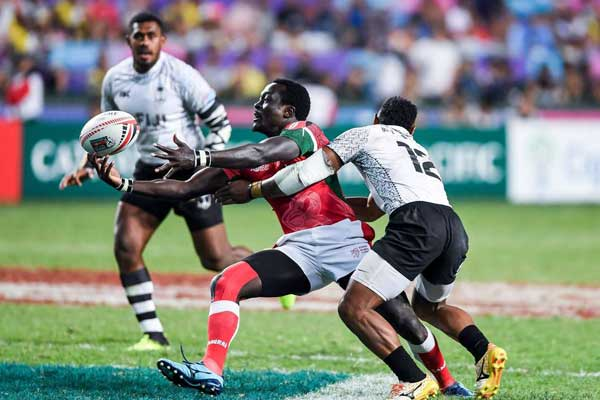 Rugby Kenya 7s too powerful for   USA,qualfy for  Cup quarters