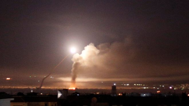 Israel strikes Iranian targets in Syria in response to rocket fire