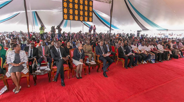 President Uhuru,DP Ruto  leads mourners in a memorial service  to honor 48 victims who perished in Solai Dam tragedy