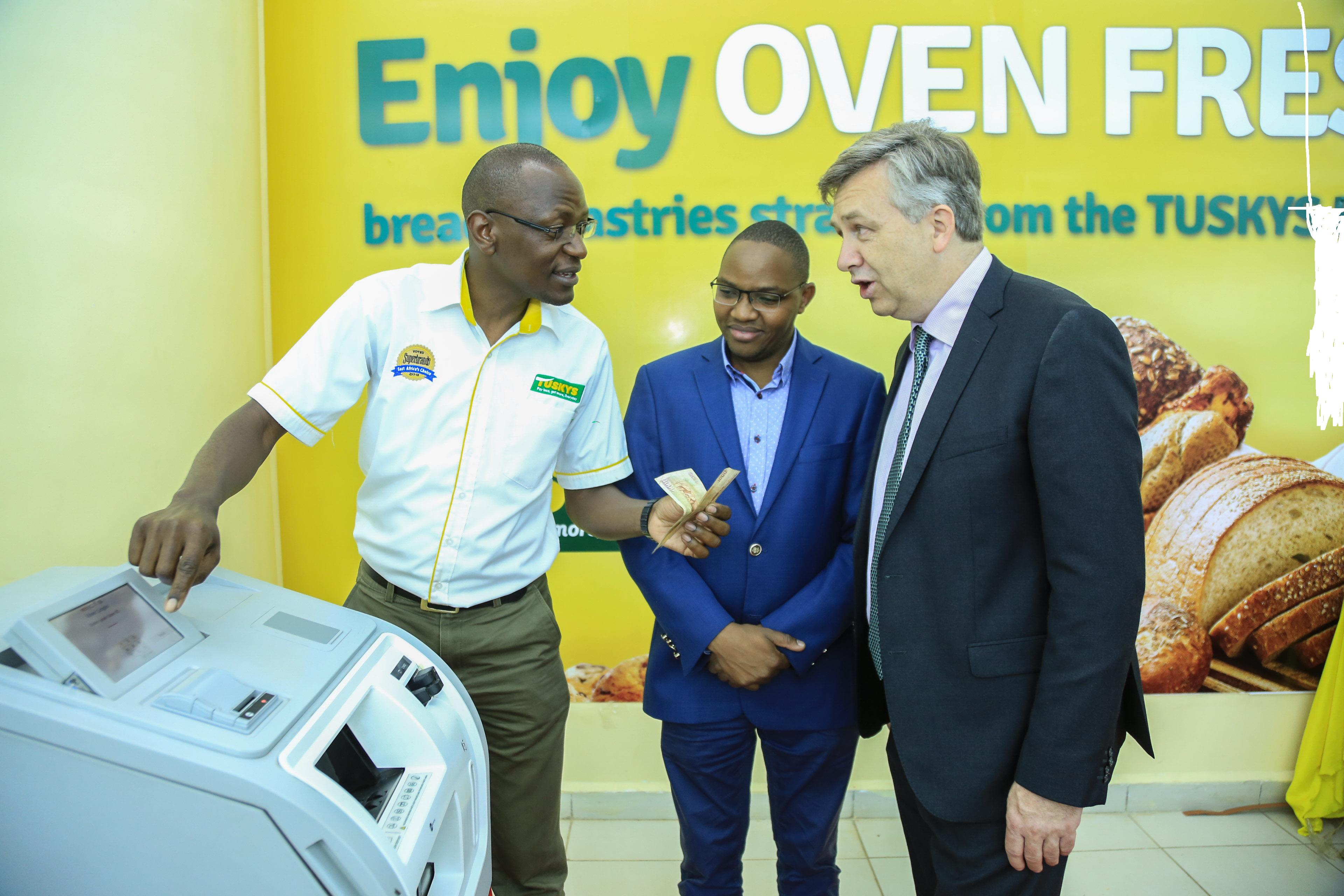 Tuskys installs intelligent Cash Deposit Machines to facilitate the convenient bank deposit of its kshs 100million daily collections