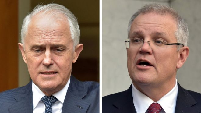 Scott Morrison to be Australian PM as Malcolm Turnbull ousted
