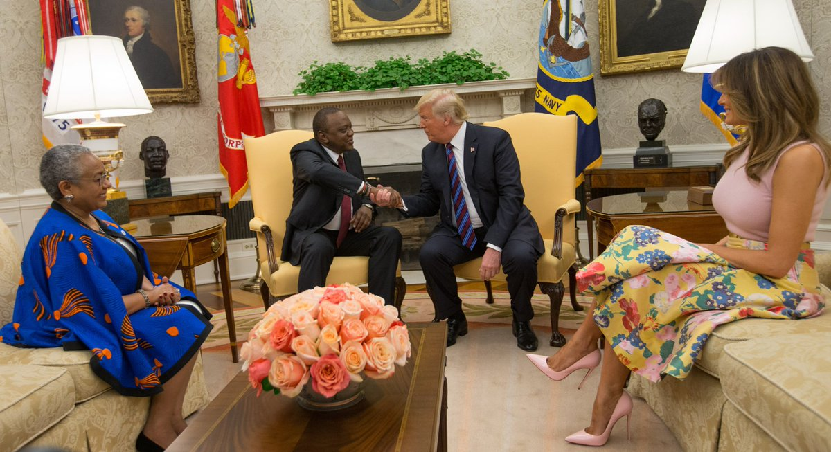 Trade, investments and security given priority in Kenyatta, Trump  meeting
