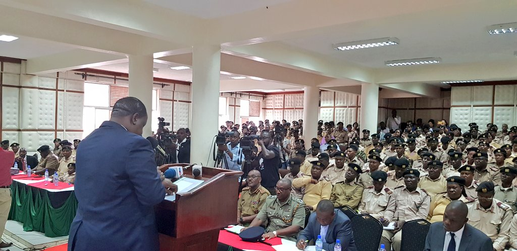 Interior CS Fred Matiangi addresses a meeting of assistant county commissioners at the Kenya school of government in Embu on 26Th Sept 2018-COURTESY