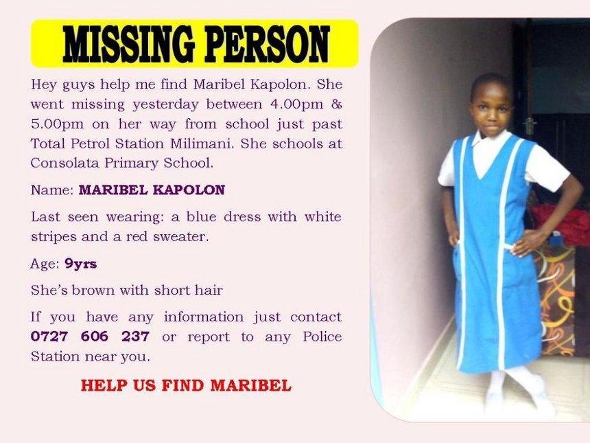 Sad:Body of the missing Meru magistrate's daughter found in Gitoro forest