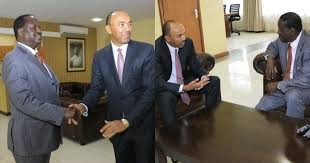 Odinga Meets Peter Kenneth  what did they discuss? find out