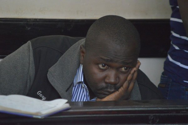 Micheal Oyamo who is a suspect in the murder of Sharon Otieno arraigned in court