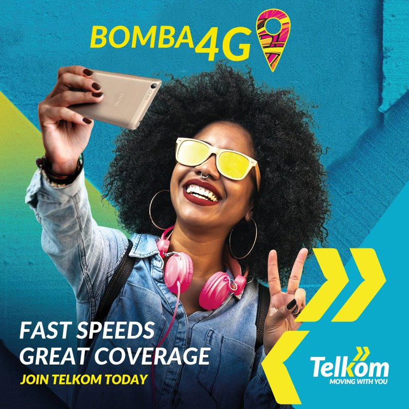Good news for the youths as Telkom  launchee 4G Bomba targeting them