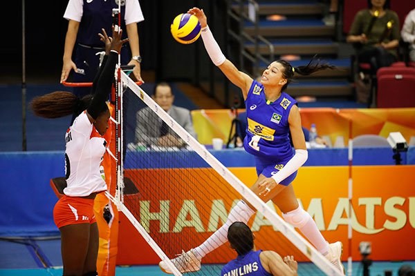 Malkia stikers stopped by Brazil in their quest to make it to the  second round of the FIVB Women's World Championship