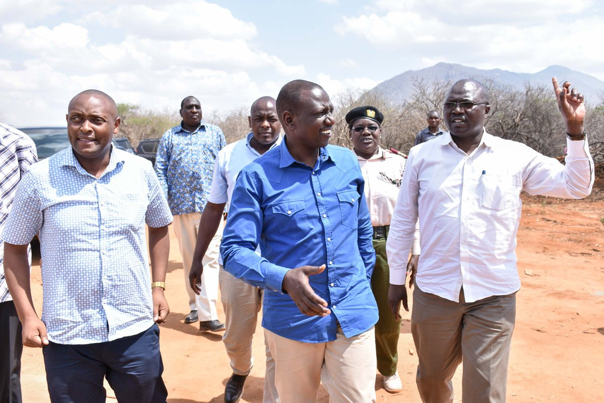 At the launch of Mbololo-Ndii-Mlilo Water Project, Mbulia, Taita Taveta County