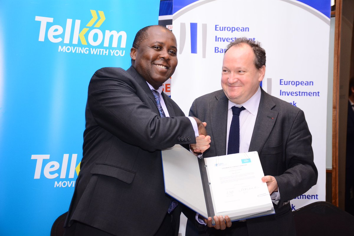 Telkom Kenya's dream of rolling out 4G network across Kenya  gets a boost with a 40 million dollars  loan from EIB