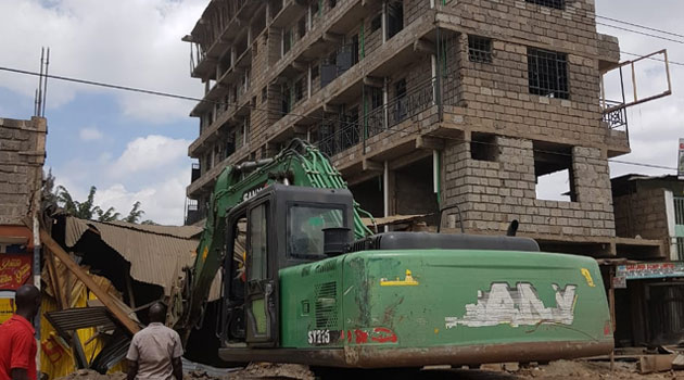 Nairobi county officials arrest owner  condemned seven-storey building  in Kayole