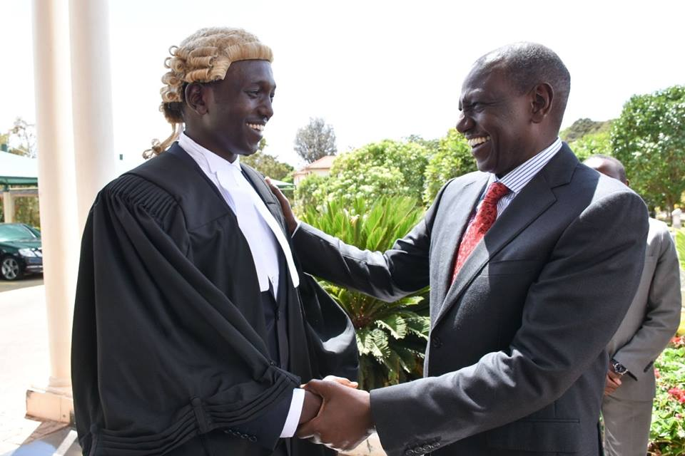 Its all congratulations as DP Ruto son Nick Ruto is admitted to the bar