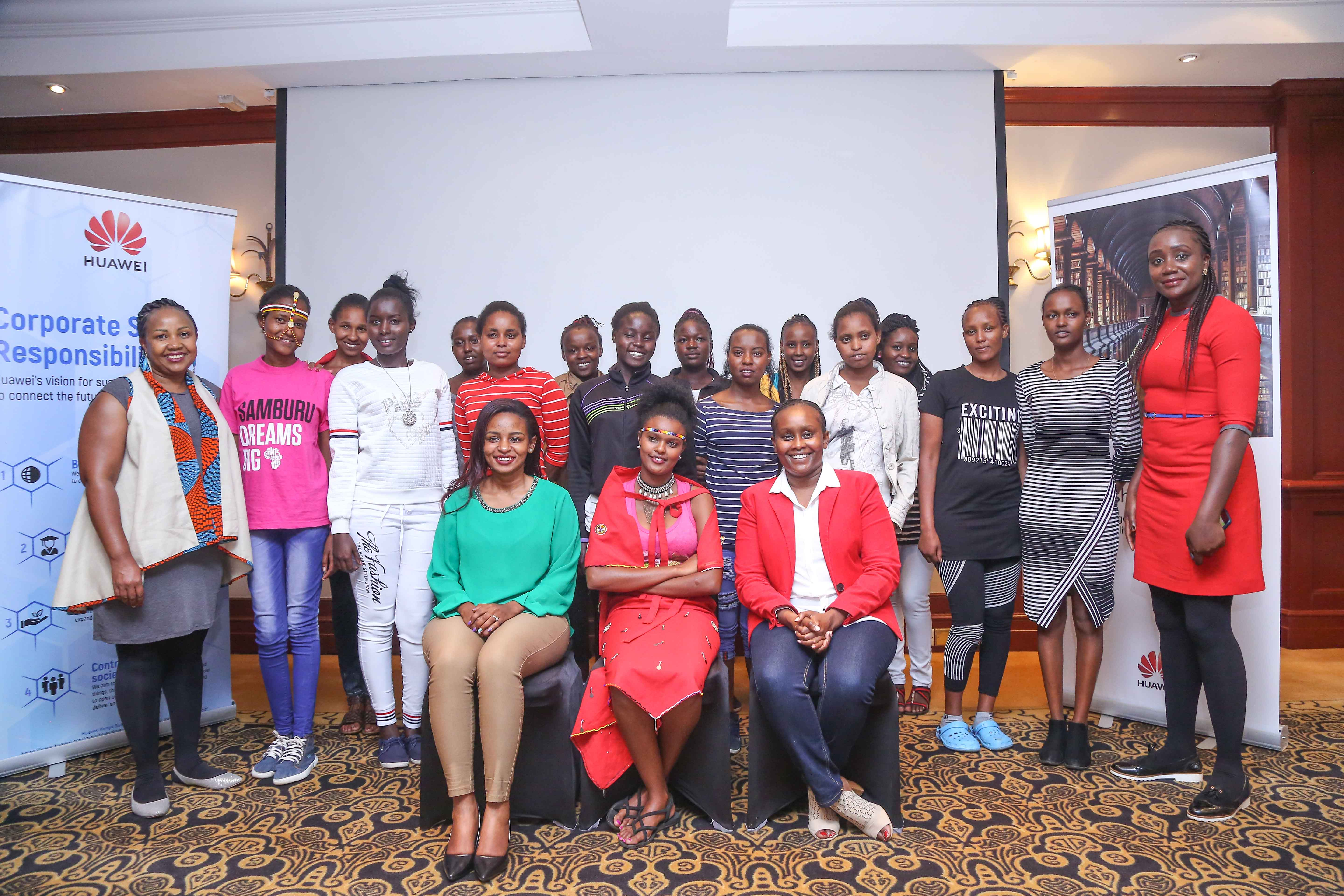 15 INSPIRATIONAL GIRLS RESCUED BY SAMBURU GIRLS FOUNDATION RECEIVE MENTORING FROM HUAWEI AND SAFARICOM TO HELP THEM PREPARE FOR COLLEGE