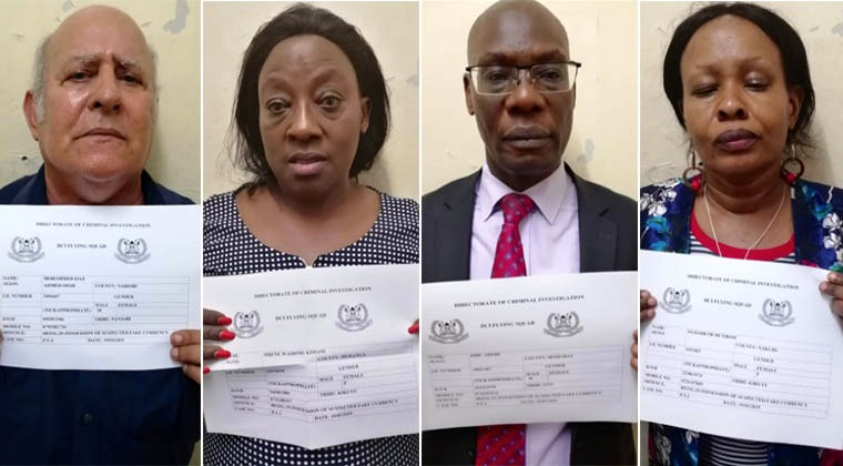 Identify of six suspects behind fake Ksh.2billion found at Barclays bank queensway branch in Nairobi revealed