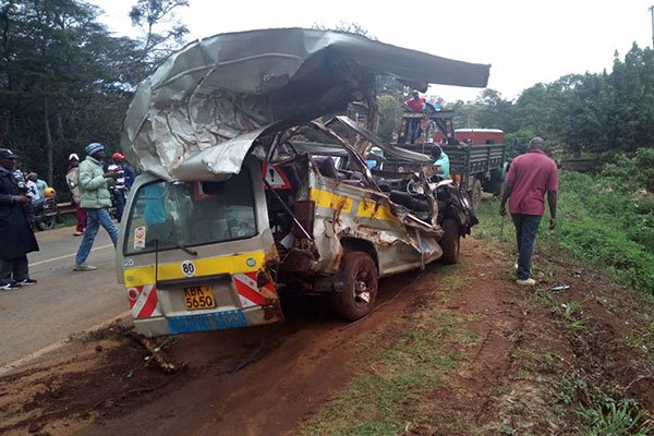 Tragic:Two people die  as a matatu plunges into a ditch in Karura Forest