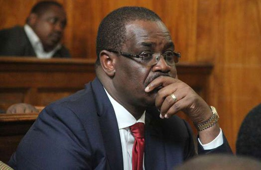 Former Nairobi Governor Kidero to spend another night in police cell awaiting ruling on his bail application on Tuesday .