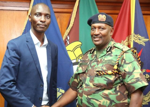 I will personally follow up Asbel  Kiprop issue , IG Mutyambai  affirms as he meets the athlete