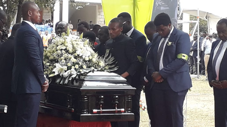 Family and Friends pay moving tributes to Jonathan Moi as curtain falls on a man described as a leader,loving and selfless