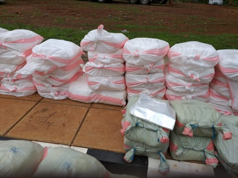 Unwanted Cache:Police nab over 3 million pieces of banned plastic bags,Expired diapers in Kamukunji