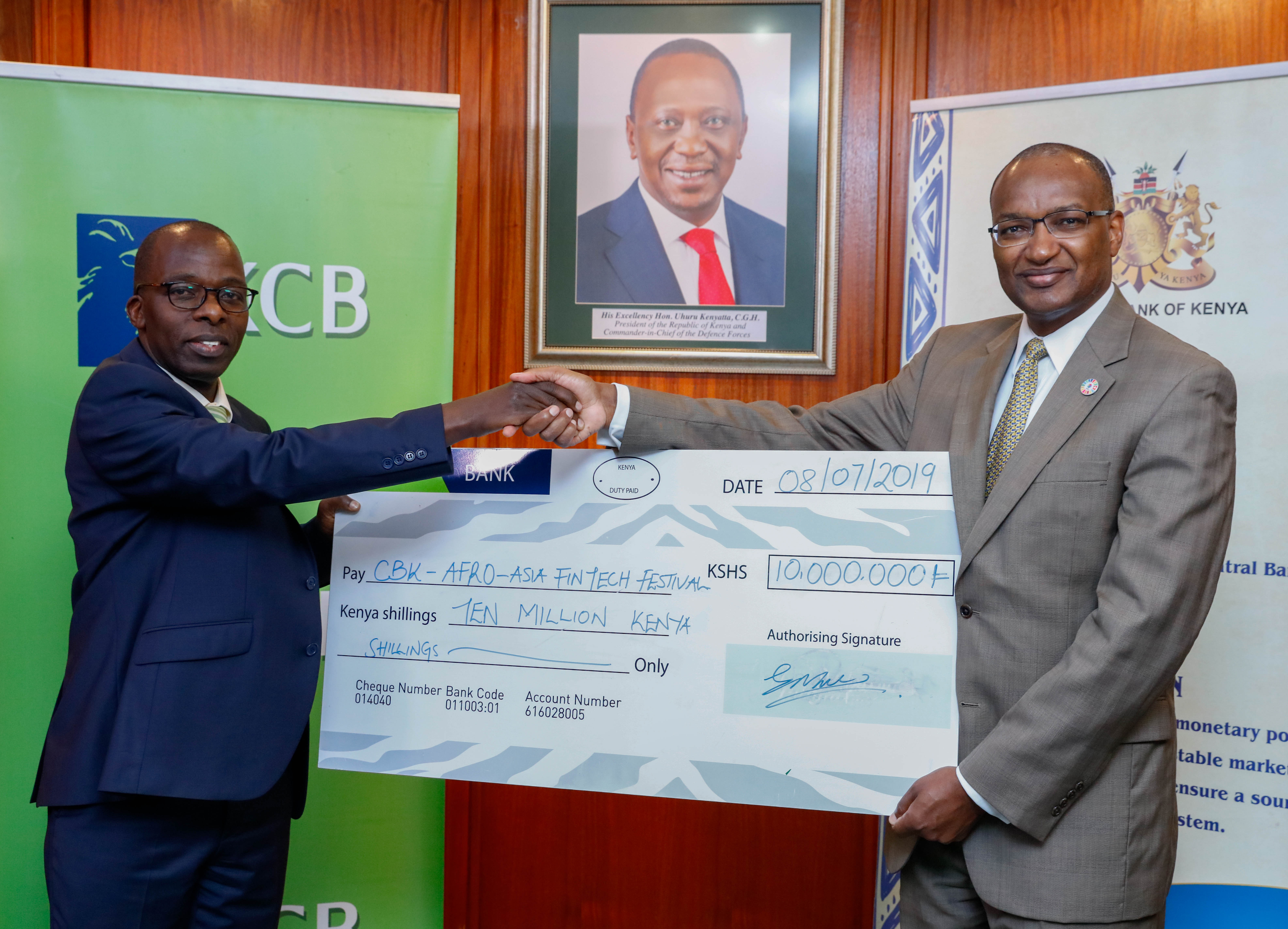 KCB Bank Commits KShs. 10M for Fintech Summit