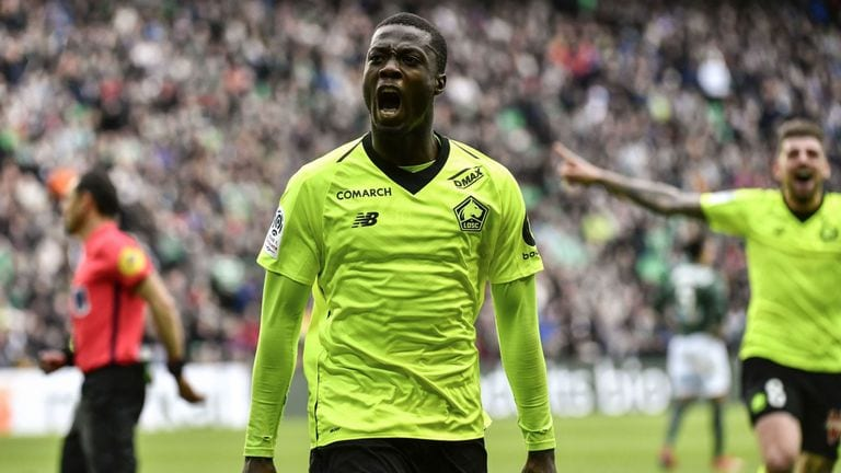 Arsenal agree  £72m on deal for Lille winger