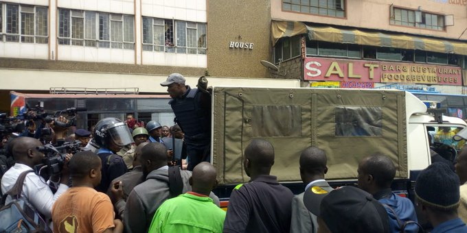 Police have arrested four people after  teachers stormed Knut headquarters-Video