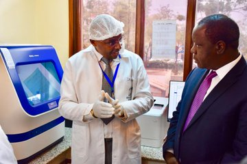 Govt unveils modern genetic analyzer  with a promise to swiftly resolve cases of pending murders