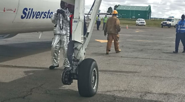 Panic  as  wheel fells off  an Silverstone-operated plane  in Eldoret on  takeoff
