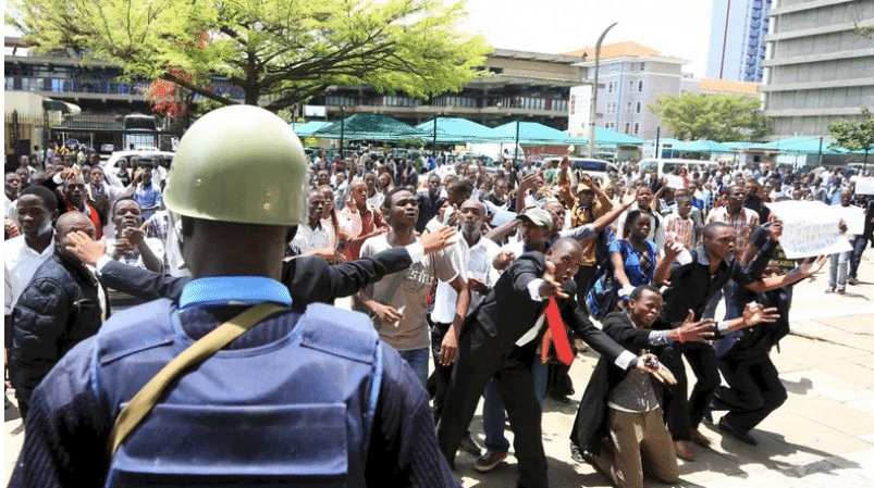 UoN Students Stage Protests After Comrade Is Knocked Down By Ambulance