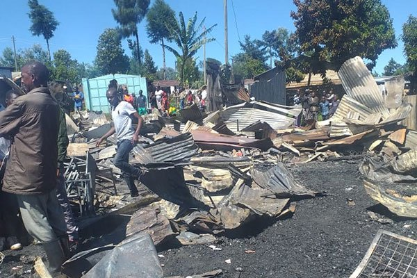 Tragic:One person dies in Kericho fire Tragedy