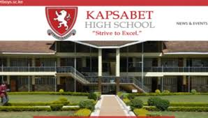 Kapsabet Boys high school produces the best student in KCSE in 2019!