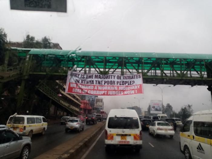 Judiciary on the spot as myterious banners along Nairobi's highways criticizes it