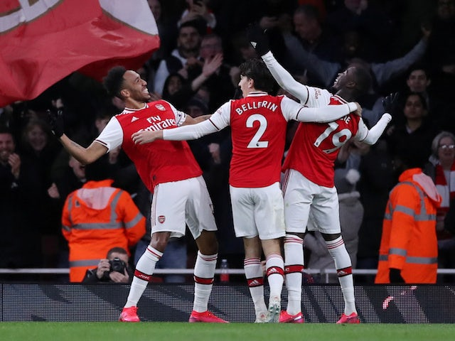 Arsenal edge Everton in five-goal thriller by   1h