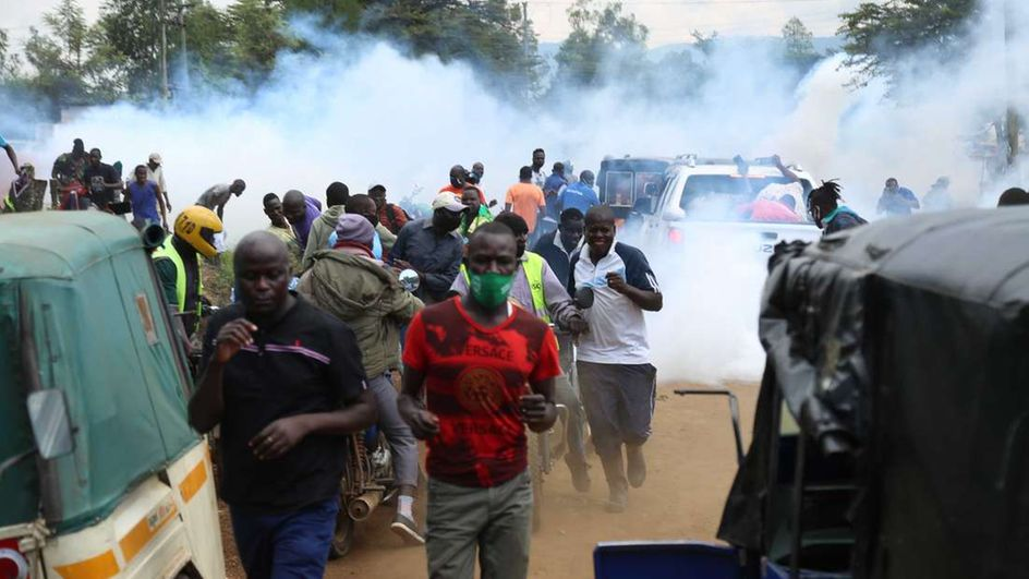 Chaotic scenes witnessed  as fans refill Jachiga's grave, demand decent burial