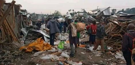 Traders at Gikomba market count losses once more as their stalls are demolished