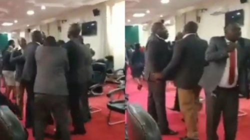 Kicks and blows as Migori county assembly MCAs face off a head of  impeachment motion against Governor Okoth Obado.