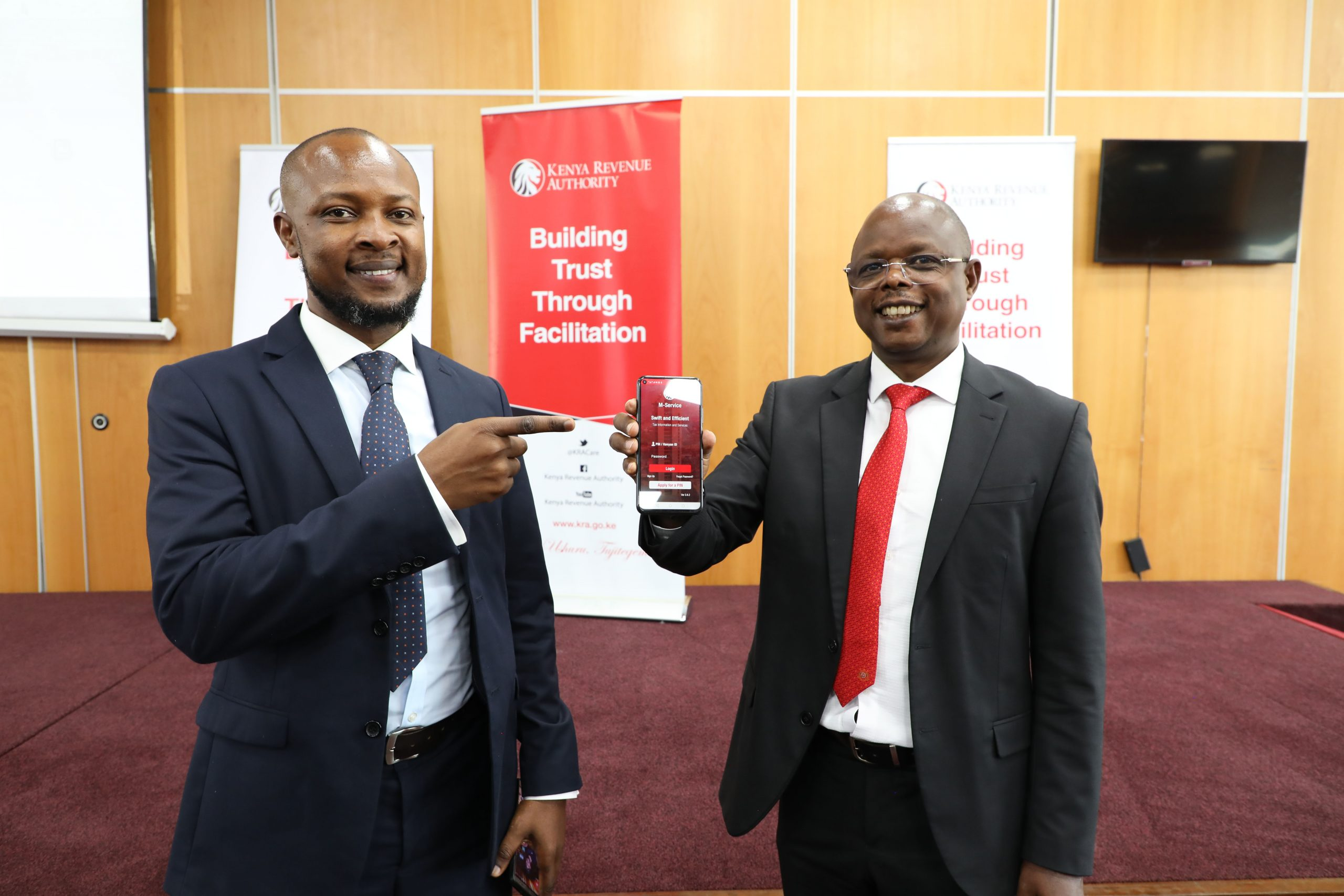 KRA unveils a mobile application as part of its efforts to simplify and enable taxpayers to conveniently access tax services.