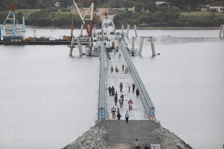 Likoni residents' Christmas gift from State as floating bridge is launched
