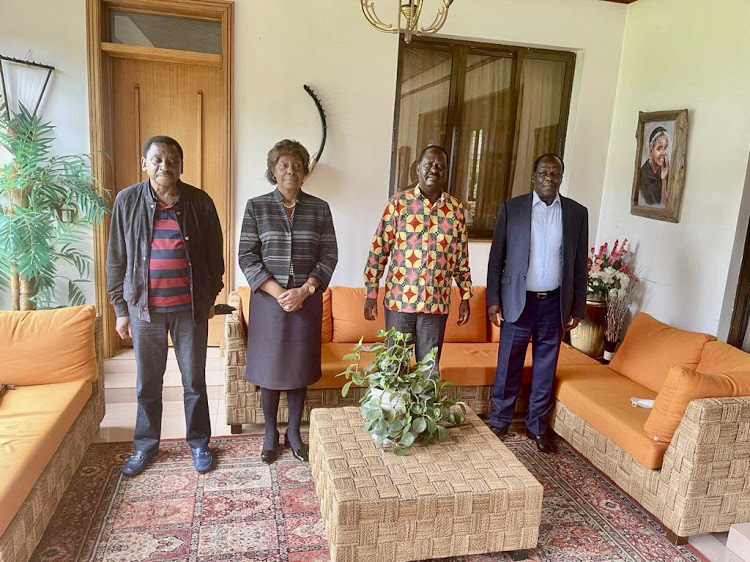 Raila meets Orengo, Oparanya even as reports of  divisions within   ODM linger on