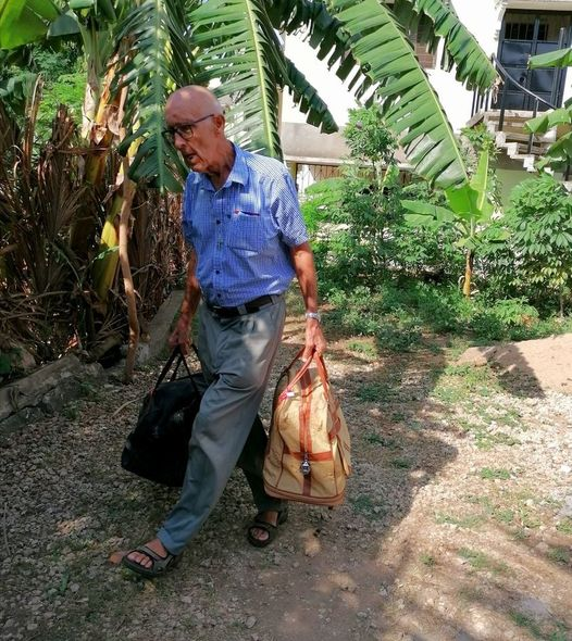 A Catholic priest returns home with just two bags after serving as a missionary priest in Kenya since 1968