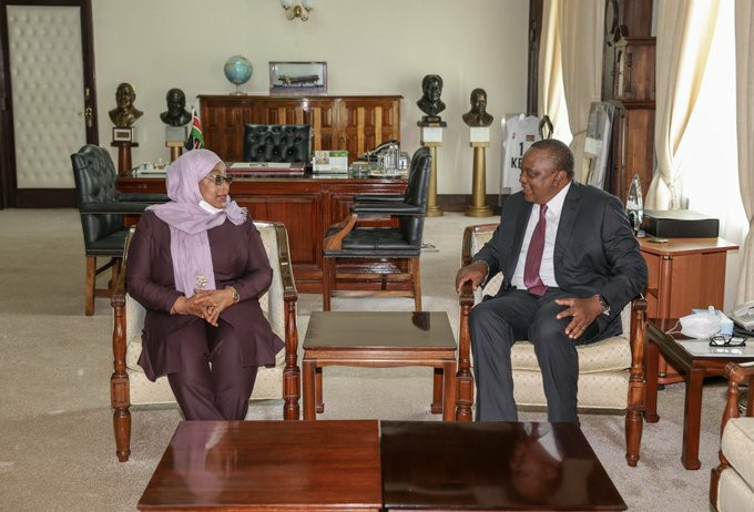 Moving forward:Kenya-TZ sign gas pipeline deal as President Samia closes first day of State visit