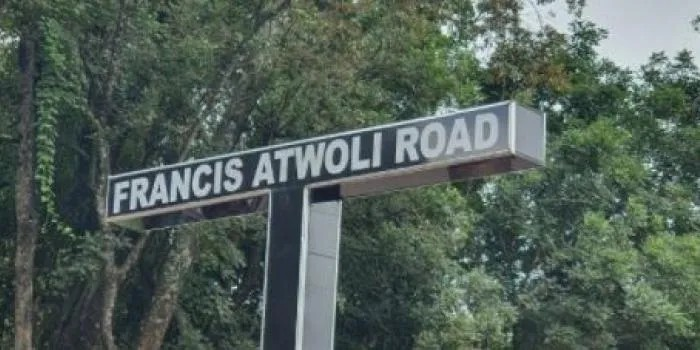 24/7 Security Team to man Francis Atwoli  Road Sign   After Second Rebuild