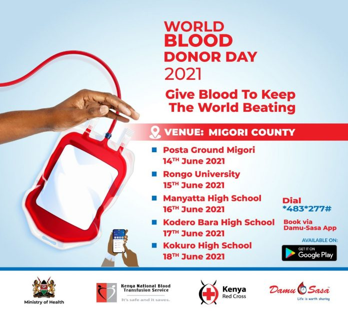 Ministry of health urges kenyans to  Donate blood as Country marks World Blood Donor Day