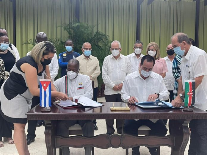New Deal:Kenya signs new health cooperation agreement with Cuba